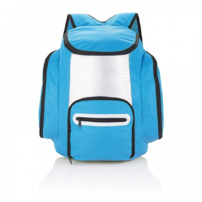 Kühlrucksack, blau,silber