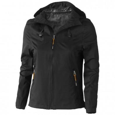 Damenjacke schwarz mit kapuze