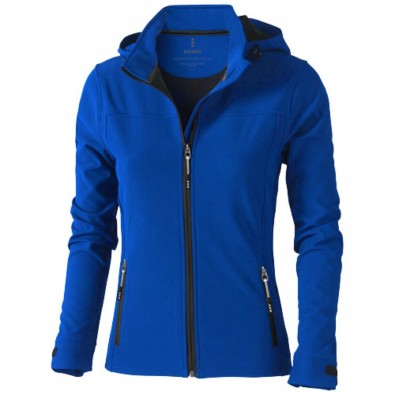 Langley Damen Softshell Jacke, blau, L