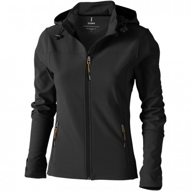 Langley Softshelljacke für Damen, anthrazit, XXL