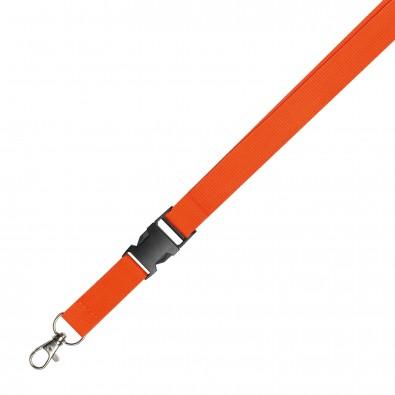 Lanyard, orange, 20 mm
