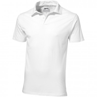 Let Jersey Poloshirt für Herren, weiss, XXXL