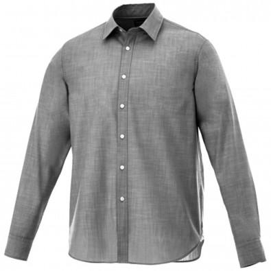 Lucky Langarm Hemd in Jeansoptik, schwarz, XS