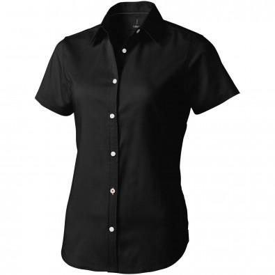 ELEVATE Damen Kurzarm Bluse Manitoba, schwarz, XL