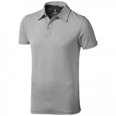 Markham Stretch Poloshirt für Herren, grau meliert, XXL
