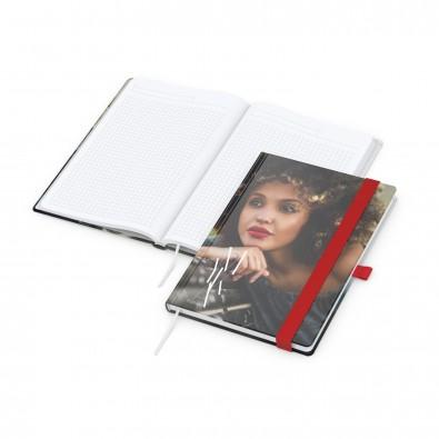 Match-Book White A5 Bestseller, matt-individuell, rot
