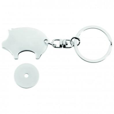 Schlüsselanhänger Glücksschwein mit Chip