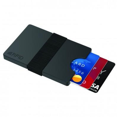 Mini-Portemonnaie iWallet Compact, Schwarz