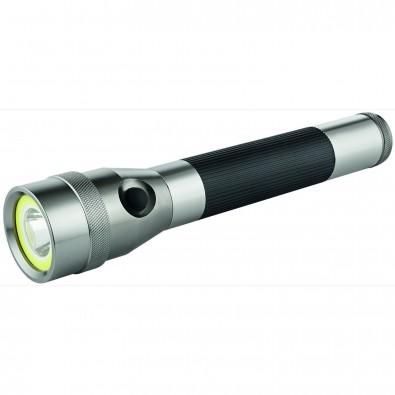 """Metmaxx® LED MegaBeam Taschenlampe """"DualLightPowerEvo"""" silber/schwarz"""
