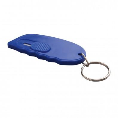 Minicutter mit Schlüsselring REFLECTS-TONGI, blau
