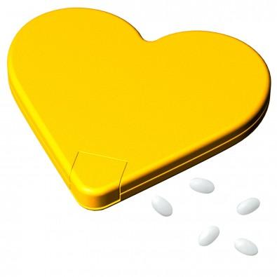 Mint-Spender Herz, standard-gelb
