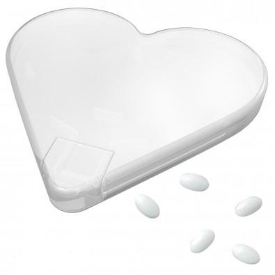 Mint-Spender Herz, transparent-milchig