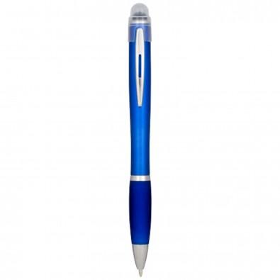 Nash beleuchteter Kugelschreiber mit farbigem Schaft und Griff, türkis