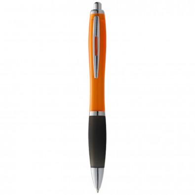 Nash Kugelschreiber farbig mit schwarzem Griff, orange,schwarz
