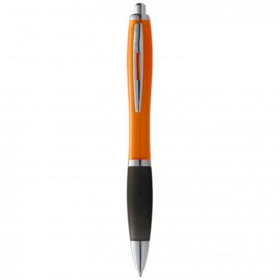 Nash Kugelschreiber farbig mit schwarzem Griff, blaue Mine, orange,schwarz