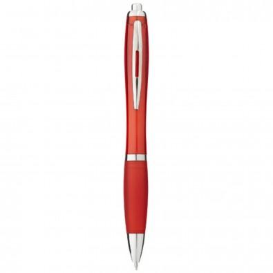 Nash Kugelschreiber mit farbigem Schaft und Griff, blaue Mine, rot