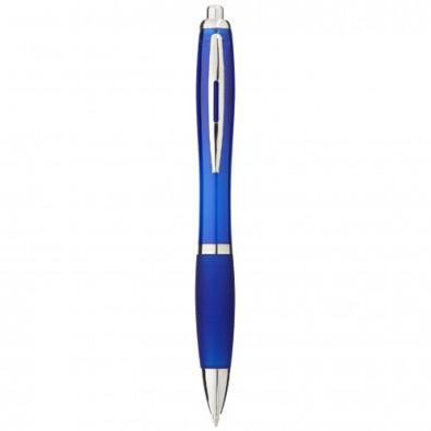 Nash Kugelschreiber mit farbigem Schaft und Griff, blaue Mine, royalblau