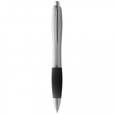 Nash Kugelschreiber silber mit farbigem Griff, silber,schwarz