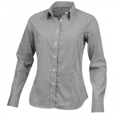 Net langärmlige Bluse, grau, XXL