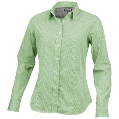 Net langärmlige Bluse, grün, S