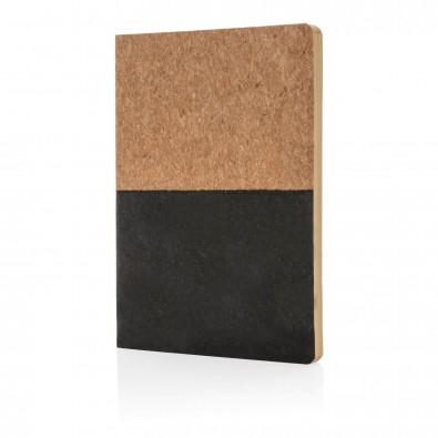 Notizbuch aus Kork, schwarz