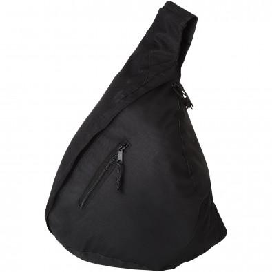 Nylon-Schulter-Bag, schwarz