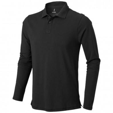 Oakville langärmliges Poloshirt für Herren, anthrazit, S