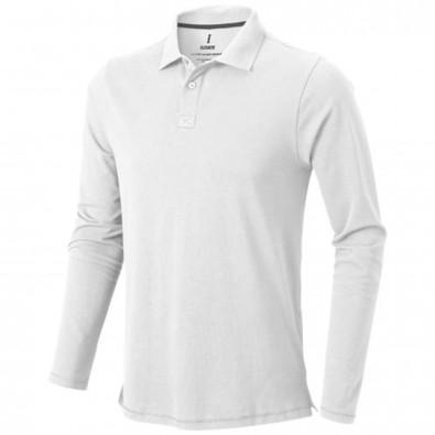 Oakville langärmliges Poloshirt für Herren, weiss, XXL