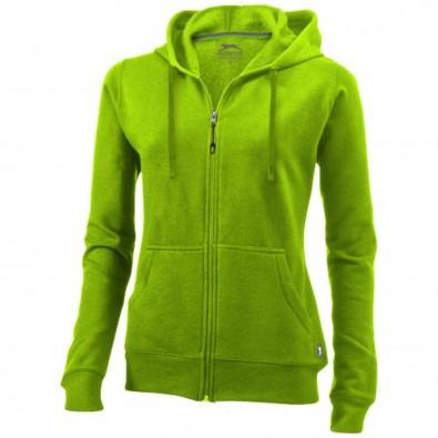 Open Damen Kapuzensweatjacke, apfelgrün, S