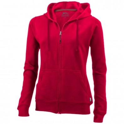 Open Kapuzensweatjacke für Damen, rot, S