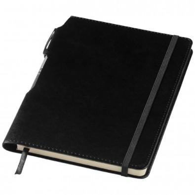 Panama DIN A5 Notizbuch und Stift, schwarz
