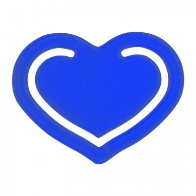 """Papierklammer """"Herz"""", transparent-blau"""