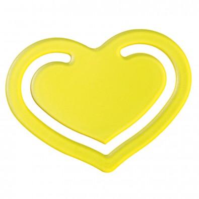 """Papierklammer """"Herz"""", transparent-gelb"""