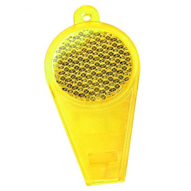 Pfeife Reflektor transparent-gelb