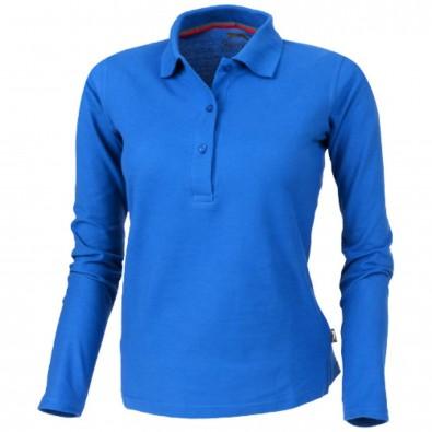 Point – Langarm-Poloshirt für Damen, himmelblau, XXL
