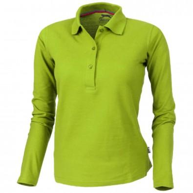 Point – Langarm-Poloshirt für Damen grün 752a46a632