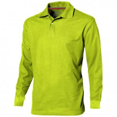 Point langärmliges Poloshirt für Herren apfelgrün | S