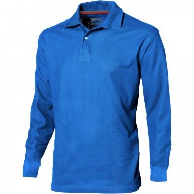 Point langärmliges Poloshirt für Herren, himmelblau, S