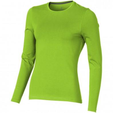 Ponoka – Öko-Langarmshirt für Damen, apfelgrün, L