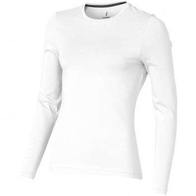 Ponoka – Öko-Langarmshirt für Damen, weiss, M