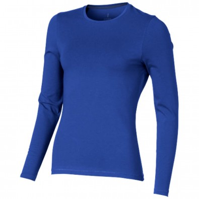 Ponoka – Öko-Langarmshirt für Damen, blau, XS