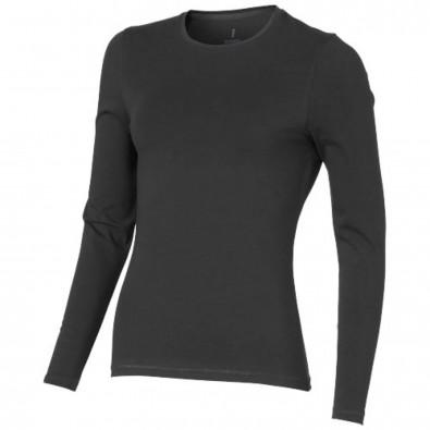 Ponoka – Öko-Langarmshirt für Damen, anthrazit, XL