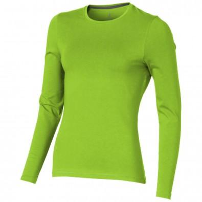 Ponoka – Öko-Langarmshirt für Damen, apfelgrün, XXL