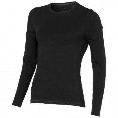Ponoka – Öko-Langarmshirt für Damen, schwarz, XXL