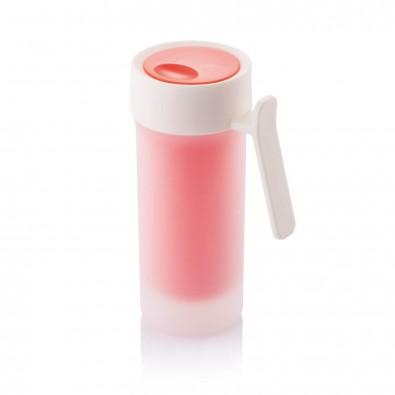 Pop Tasse, rot,weiß