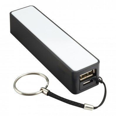 Powerbank REFLECTS-CAMARGO, 2200 mAh, schwarz