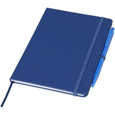 Prime mittelgroßes Notizbuch mit Stift, royalblau