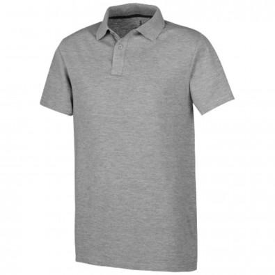 Primus Poloshirt für Herren, grau meliert, XXL