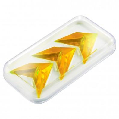"Pussycat Knobelspiel ""Triple-Pyramide"", transparent-gelb"