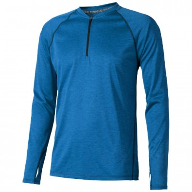 Quadra – Langarmshirt cool fit für Herren heather blau | XS